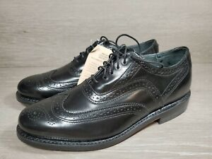 Executive Imperials Mens 372 Black Wingtip Lace Up Oxfords 7.5 EE (b7
