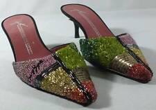 Giuseppe Zanotti Design Shoes Beaded Mules Slides Size 37 EU 7 US SIGNED