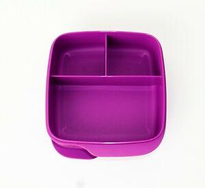 TUPPERWARE Brotdose Lunchbox Clevere Pause 550ml mit Einteilung Fuchsia