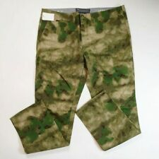 Crooks and castle mens 100% authentic long  pants camoflouge size 40 green