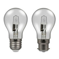 Energy Saving Halogen Dimmable GLS Bulb BC ES 28w=40w 42w=60w 70w=92w 100=150w