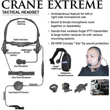 Tactical Ear Gadgets CRANE EXTREME Tactical Headset for Motorola APX XPR Radios
