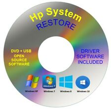Hp System Recovery Boot Repair Restore DVD Disc Windows 10 8 7 Vista XP