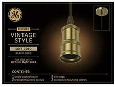 GE Brushed Soft Gold Vintage LED Pendant Light
