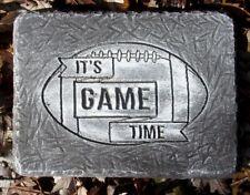 """Football plaque mold concrete plaster Paint your time colors 9.5"""" x 7"""" x 3/4"""""""