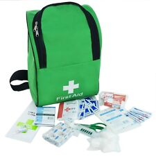 JFA School Trip First Aid Kit Rucksack in Large Green Backpack