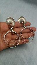 Stunning Uno A Erre modernist statement  sterling 925 hoop pierce earrings