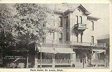 Vintage 1920s Postcard; Park Hotel, St. Louis MI Gratiot County, Posted