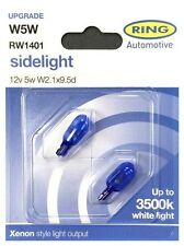 W5W 2 x 501 Side Light Bulbs With Up To 3500K White Light Xenon Style (PE1327)