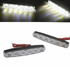 SUPER BRIGHT Daytime Running Light DRL Upgrade Kit 12V 2 X 6 LED Reverse Lights