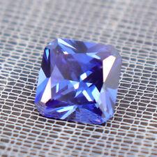 Unheated 6.76ct Blue Sapphire Square Cut 10x10mm VVS Loose Gemstone Diamonds