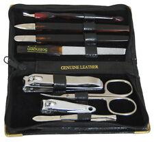 Pediküre Set Nagelpflege Set 8-teilig Leder Etui Solingen Nagelschere Markenware