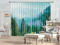 Top Blue Mountains 3D Curtains Blockout Photo Printing Curtains Drape Fabric