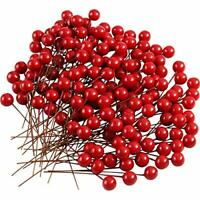 TUPARKA 150 Pcs Christmas Holly Berries Artificial Berries for Christmas Wreath