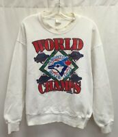 Vintage 1992 Toronto Blue Jays World Series Trench MLB Crewneck Size L White