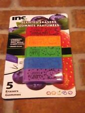 Scented Erasers Fruity 5 pack - Strawberry, Orange, Apple, Blueberry, Grape
