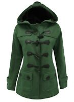 Size 26 Ladies New Green Fleece Duffle Style Hooded Parka Coat Jacket Parker