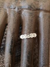 Vintage Antique 10k White and Yellow Gold Natural Diamonds Ring Sz 6