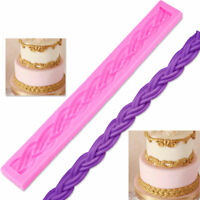 Silicone Cake Mold Long Rope 3D Border Moulds Fondant Cake Decorating Tools