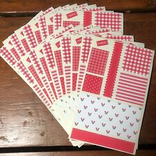 20 sheets Mrs Grossmans Stickers Fabric Swatches Holiday Red Dollhouses Calico