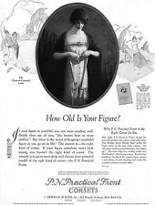 Edward Eggleston Practical Front Corset HOW OLD IS YOUR FIGURE Flapper 1924 Ad