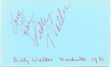 Billy Walker signed autograph album page 1981 US country singer Charlie's Shoes