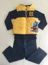 Thomas Train 3 Piece Set - Navy Shirt /Yellow Vest /Jeans sz 3 T