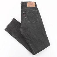 Vintage LEVI'S 501 MADE IN USA Black Denim Regular Straight Jeans Mens W31 L34