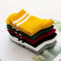 Women Cotton Striped Socks Soft Cute Solid Short Sport Casual Hosiery Socks TKL
