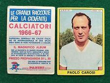 CALCIATORI 1966/67 66/1967 LAZIO Paolo CAROSI Figurina Sticker Panini (NEW)