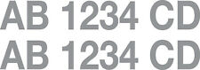 """3"""" Boat Registration Numbers (Pair) - Select Color & Style - Style Option 2"""