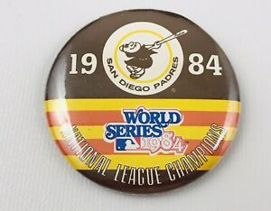 Vintage San Diego Padres 1984 World Series National League Champions Pin Button