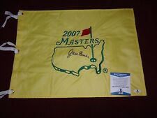 SIGNED JACK BURKE JR AUTOGRAPHED 1956 MASTERS GOLF PIN FLAG BECKETT BAS # B06560