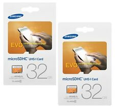 Lot 2 x Samsung EVO 32GB microSD(=64GB) 48MB/s C10 32G microSDHC micro MB-MP32D