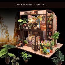 DIY Music Light House Cottage Wooden Dollhouse Miniature Kit LED Gift + 5