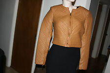 bebe QUILTED LEATHERETTE JACKET SIZE S
