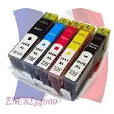 5 cartouche remanufacturées 364 XL avec NIVEAUX D'ENCRE pour HP Photosmart 7520