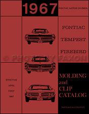 1967 Pontiac Chrome Molding Body Trim Parts Book Firebird GTO LeMans Tempest