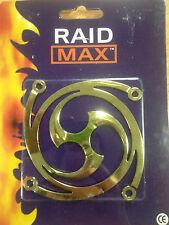 2 x RAID MAX GOLD 80mm Fan Grill - NEW OLD STOCK - CLEARANCE (F02)