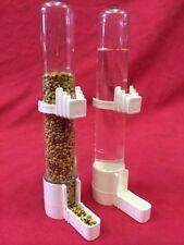 Comederos Para Aves X 2 De Agua Dispensador De Agua De Semillas Clipper Fuente Pequeña Budgie Canarias Finch Sm