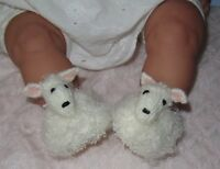 PRINTED KNITTING INSTRUCTIONS--BABY SHEEP SHOES ANIMAL BOOTIES KNITTING PATTERN