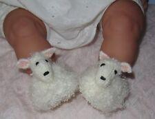 Instructions de tricotage imprimé-bébé mouton chaussures chaussons tricot motif animal