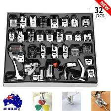 32 /Set Sewing Machine Presser Foot Feet Tool Kit For Brother Singer Domestic AU