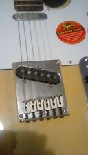 Fender Squier Standard Telecaster blonde stickers still on electric guitar