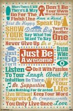 JUST BE AWESOME inspirational spiritual poster 22x34 new free shipping