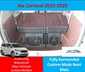 Kia Carnival 2015-2020 Custom Made Trunk Boot Mats Liner Cargo Mat Cover