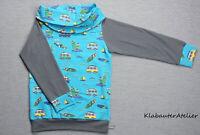 Hoodie Pullover Wickelkr Handmade blau Jungen 68//74//80//86//92//98//104//110//116//122