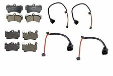 NEW Audi Q7 Porsche VW Front and Rear Disc Brake Pads with Sensors