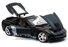 CHEVROLET Stingray Police 1:18 scala in metallo modelli Diecast Auto Modello