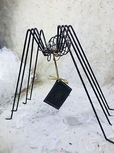Radko Black Spider Halloween 006290 NIB 2002 Spooky Metal Spider